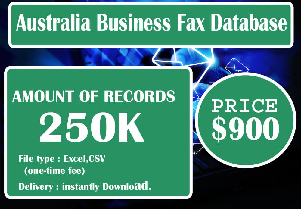 Australia Business Fax Database