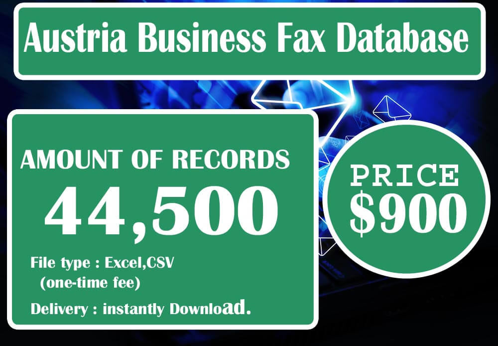 Austria Business Fax Database