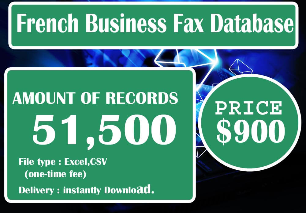 French Business Fax Database