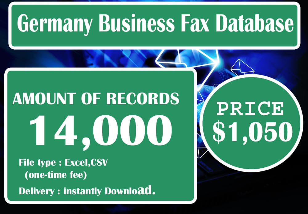 Germany Business Fax Database