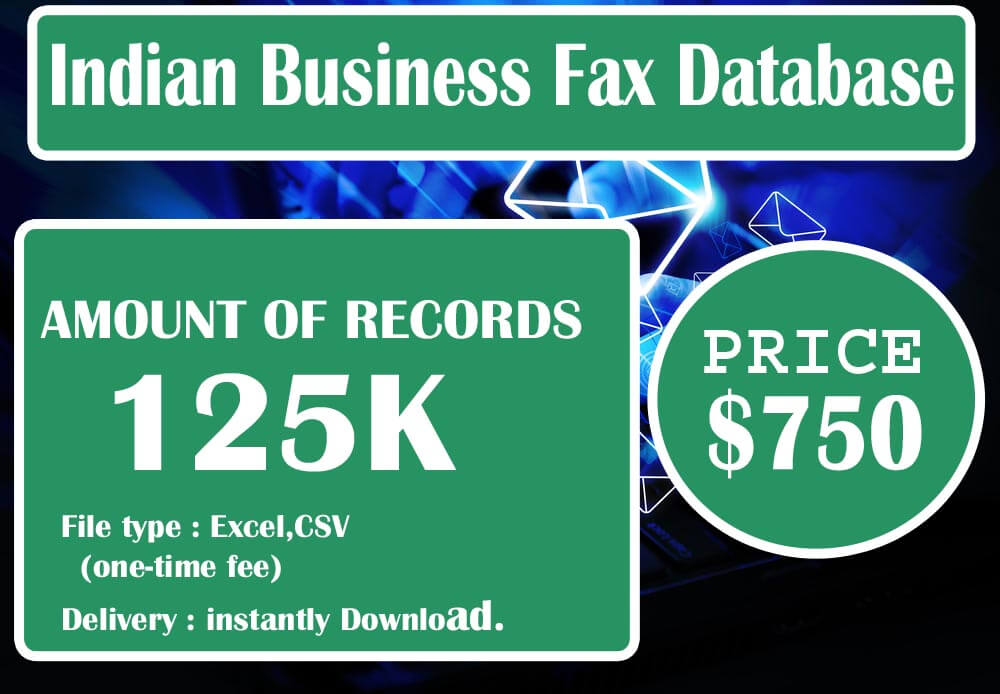 Indian Business Fax Database