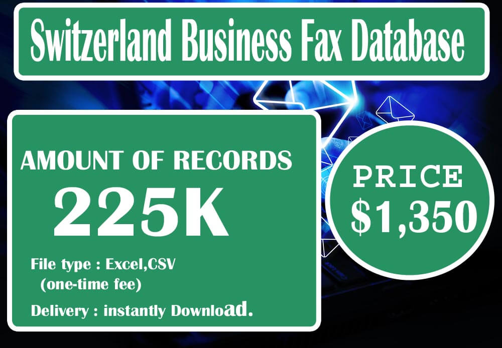 Switzerland Business Fax Database