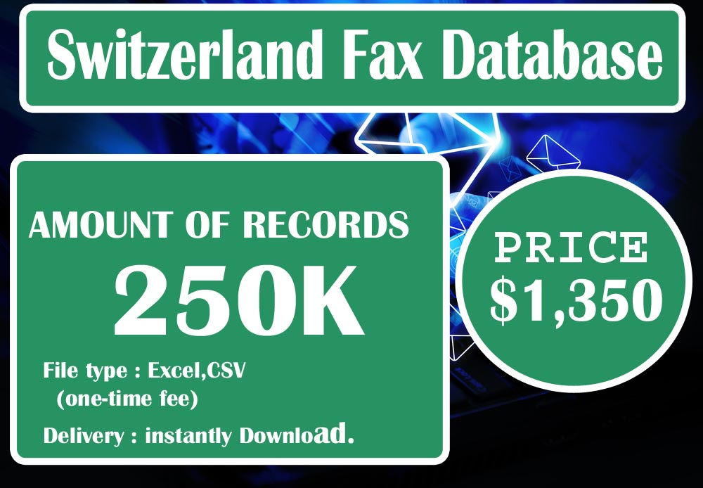 Switzerland Fax Database