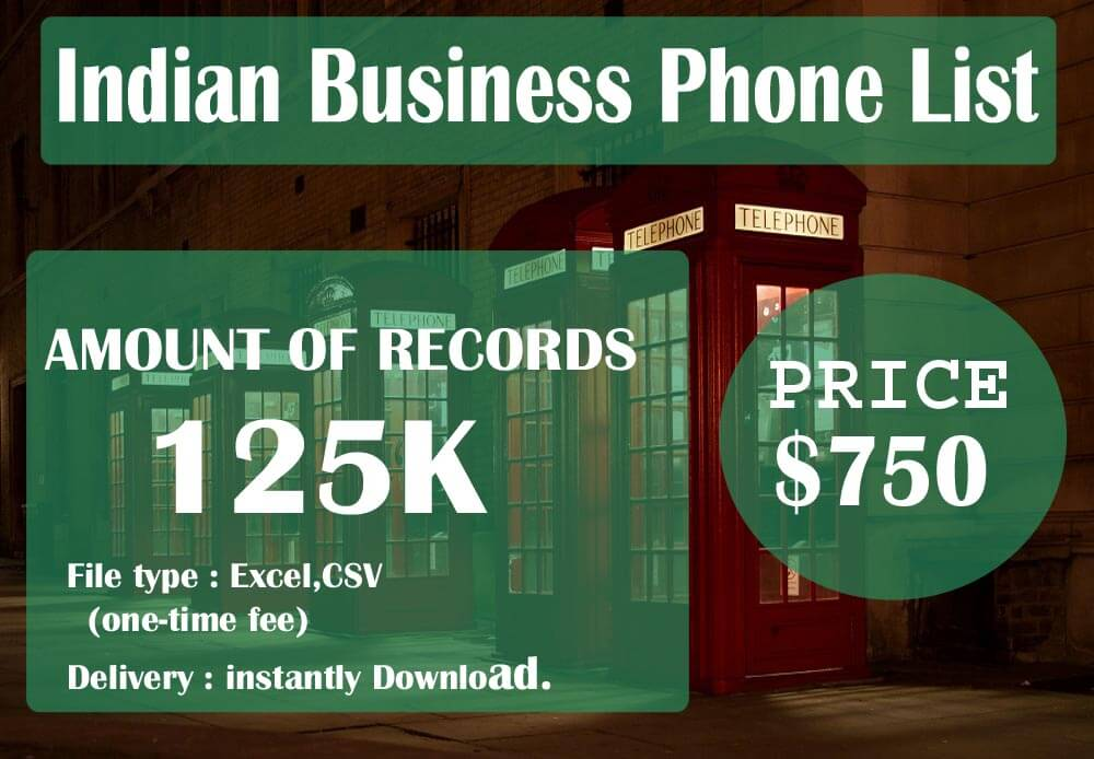 Indian Business Phone List